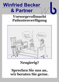 Beratung zur Patientenverfügung und Vorsorgevollmacht